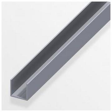 Alfer Профиль U-подобный аллюминиевый 7,5x1,0мм, 1м(Арт.144545)
