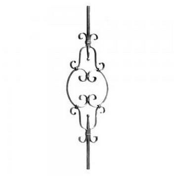Arteferro Балясина с завитками 260*900мм, 12*12мм, Железо(Арт.144502)