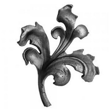Arteferro Листок литой 140*155мм, 16*8мм, правый, Железо(Арт.144506)