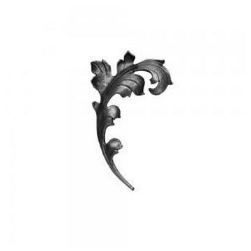 Arteferro Листок литой  150*250мм, 16*6мм, правый, Железо(Арт.144508)