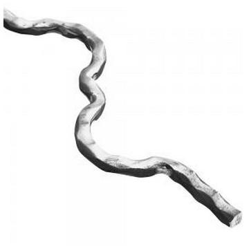 Arteferro Стержень  гнутый карбованный 12*12мм, L=1600мм, Железо(Арт.144604)