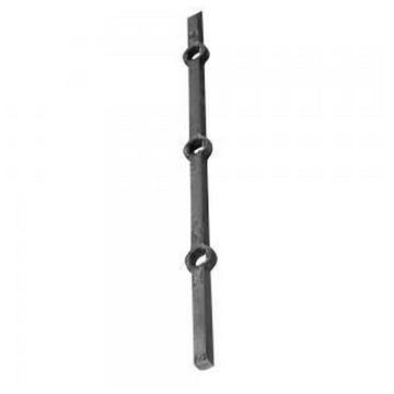 Arteferro Стержень квадратный  12мм с отверстиями, L=2000мм, интервал 120 мм, отв(Арт.144608)