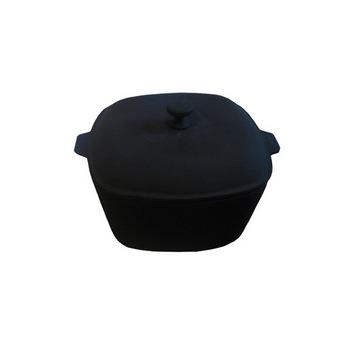 Чугунная кастрюля 5,3 л с крышкой(Арт.150025)