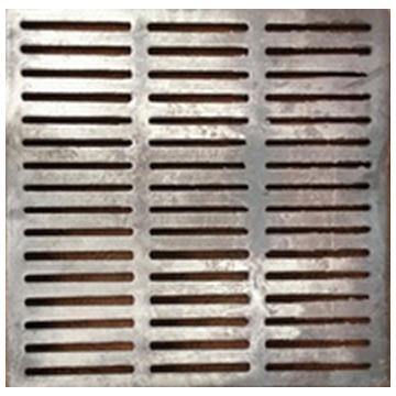 Чугунная решетка сливная 500*500*40.(Арт.149969)