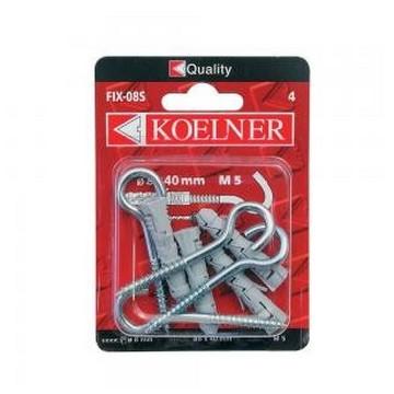 Koelner Дюбель распорный с потолочным крюком Koelner 8х40мм , 4шт(Арт.144908)