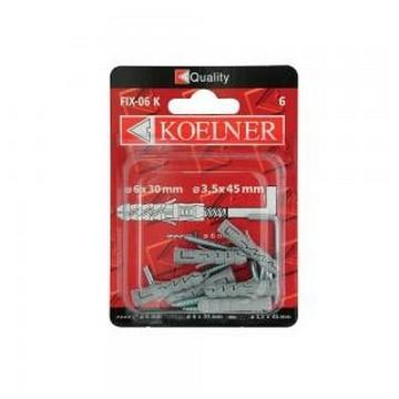 Koelner Дюбель распорный с прямым крюком Koelner 8х40мм , 4шт(Арт.144909)
