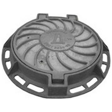 Люк канализационный тяжелый на шарнире тип Т(С-250)1-60 ГОСТ 3634-99.(Арт.149939)