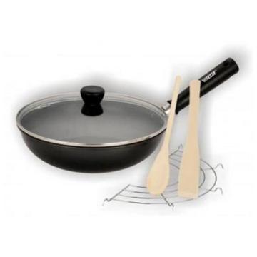 Сковорода-вок Vitesse  25 см, деревянная лопатка и ложка VS-7653(Арт.145695)