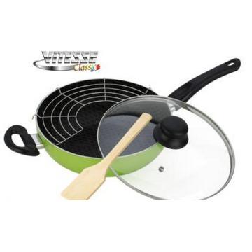 Сковорода-вок Vitesse 26 см, лопатка VS-7407(Арт.145688)