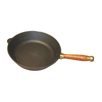 Сковорода чугунная 28 см с деревянной ручкой(Арт.150067)