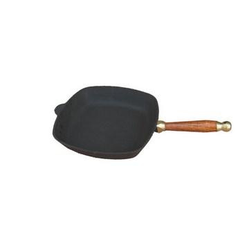 Сковорода квадратная 26 см с деревянной ручкой(Арт.150078)