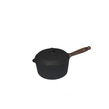Сотейник чугунный с деревянной ручкой и крышкой(Арт.150020)